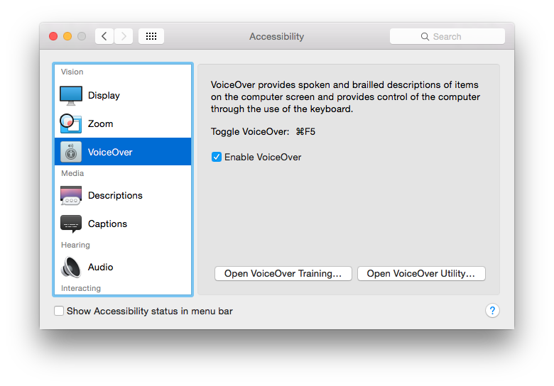 mac voiceover manual