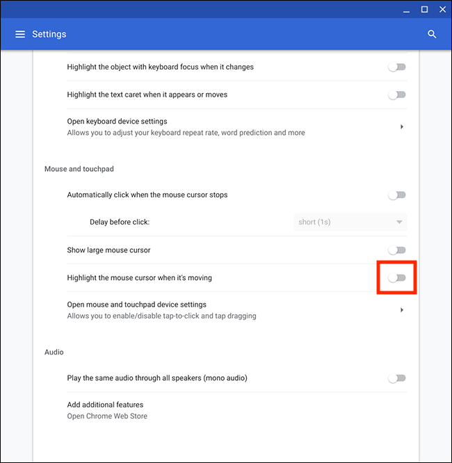 Chrome OS / Chromebook – Highlighting the mouse pointer | My