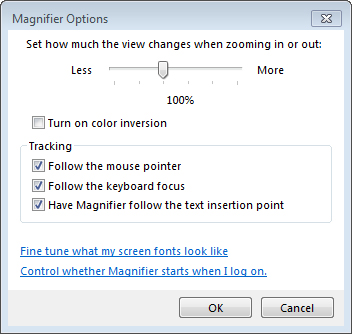 Windows 7 and Windows 8 - Magnifying the screen | My