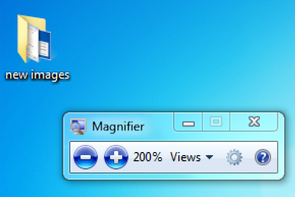 Windows 7 and Windows 8 - Magnifying the screen   My