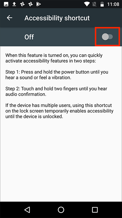 Android 7 Nougat – Accessibility shortcut | My Computer My Way