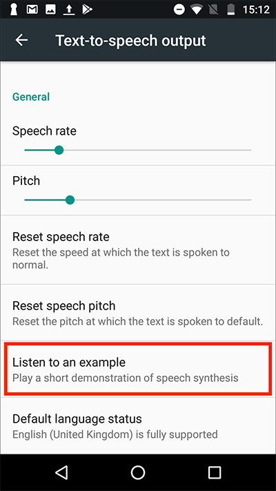 Android 7 Nougat – Text-to-speech output | My Computer My Way