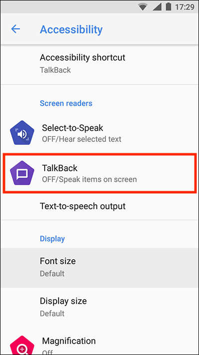 Android 8 Oreo – TalkBack | My Computer My Way