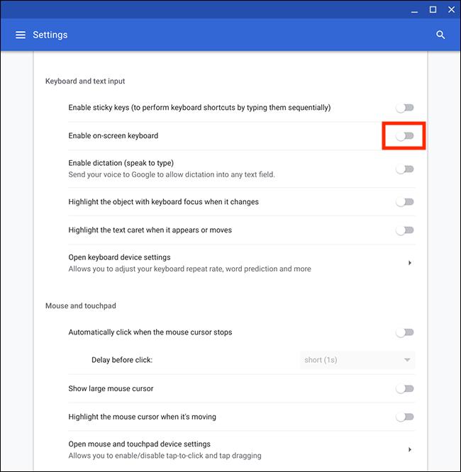 Chrome OS / Chromebook – Using the on-screen keyboard | My