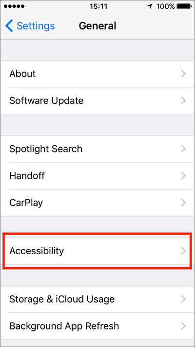 Image result for iphone general settings