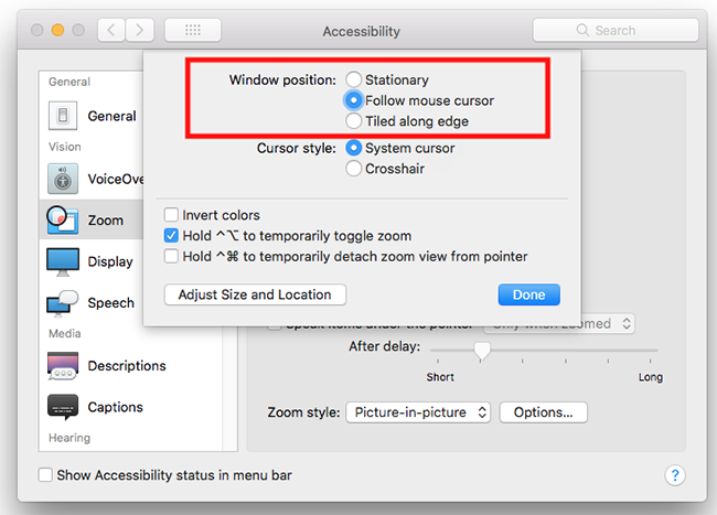 macOS 10 13 High Sierra – Magnifying the screen | My Computer My Way