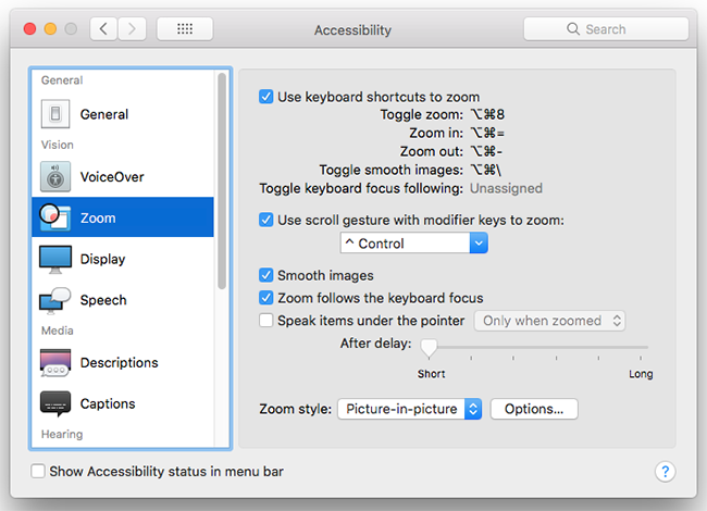 macOS Mojave – Magnifying the screen | My Computer My Way