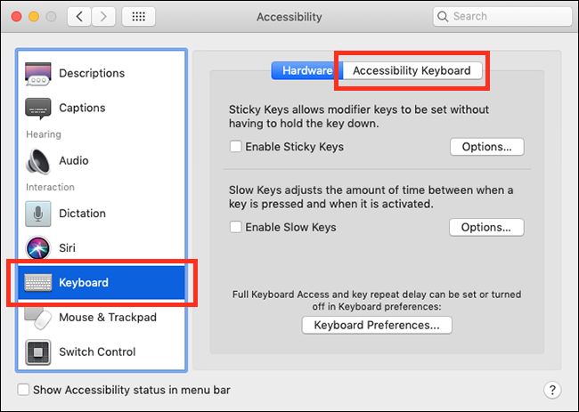 macOS Mojave – The Accessibility Keyboard | My Computer My Way