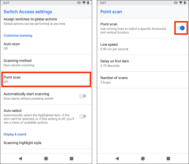 Controlling your device using switches in Android Pie | My