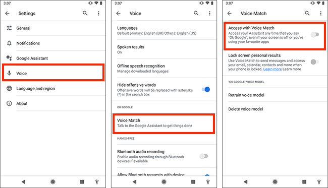 Controlling your mobile or tablet using your voice in Android Pie