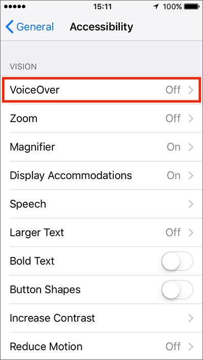 VoiceOver – iPhone/iPad/iPod Touch iOS 11 | My Computer My Way