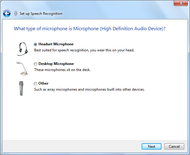 Speech Recognition in Windows 7 | My Computer My Way