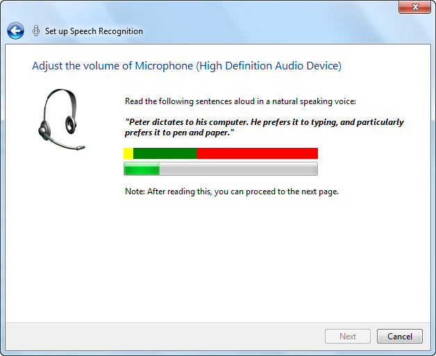 Speech Recognition in Windows 7   My Computer My Way