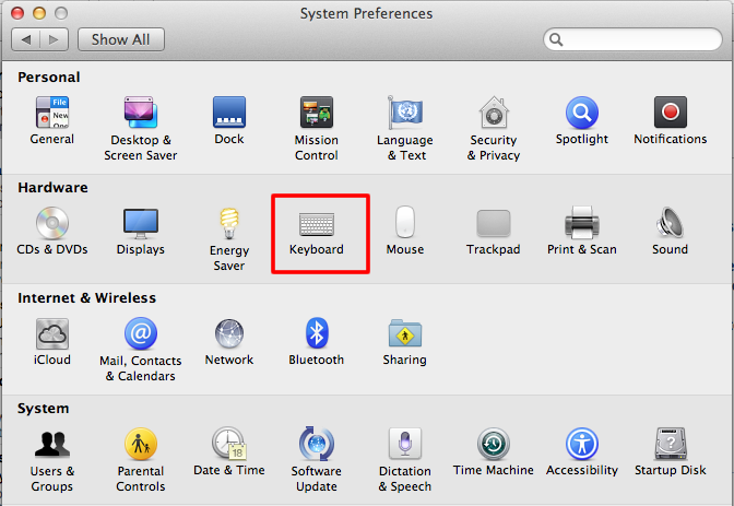 Apple OS X 10 8 Mountain Lion - Using the on-screen keyboard